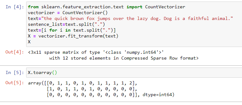 text features extraction 4